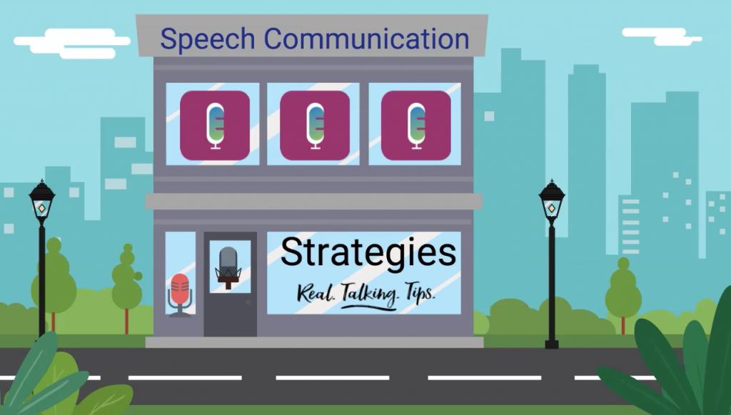 Cartoon of Retail Steet - Speech Communication Strategies - Real Talking Tips