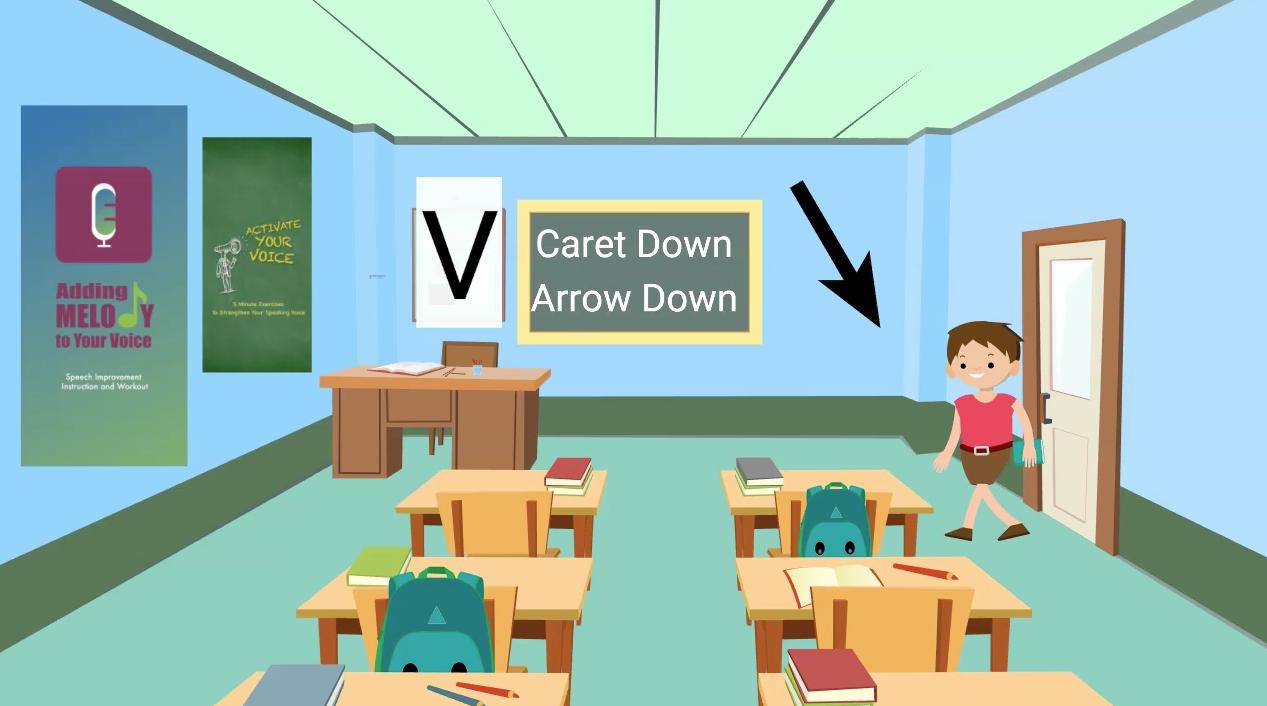 Caret Down - Arrow Down